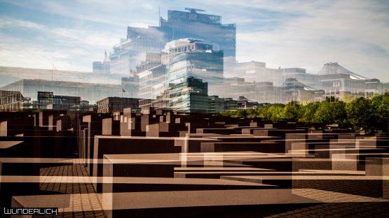 Holocaust-Mahnmal und Blick zum Potsdamer Platz