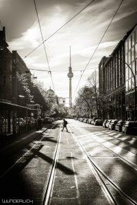 Oranienburger Straße Blick in Richtung Fernsehturm