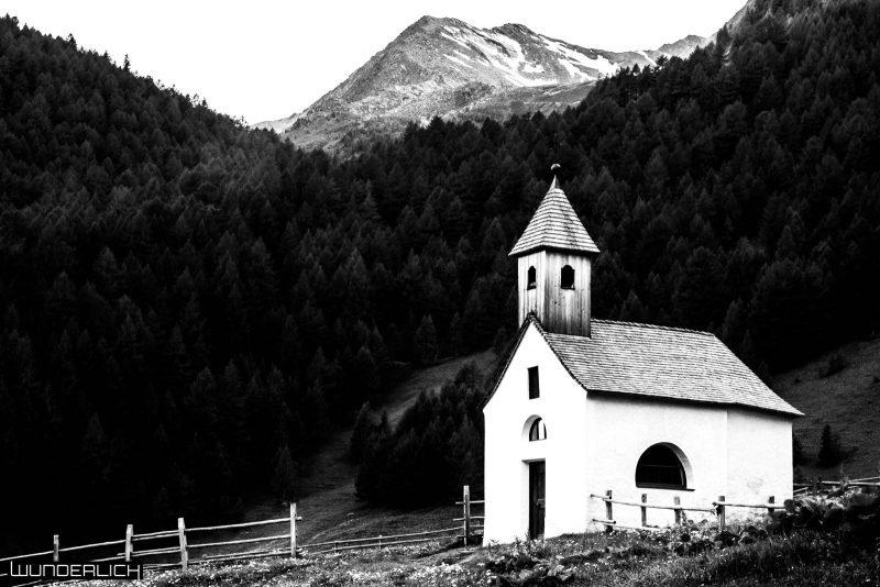 Kirche auf der Fane Alm in Südtirol